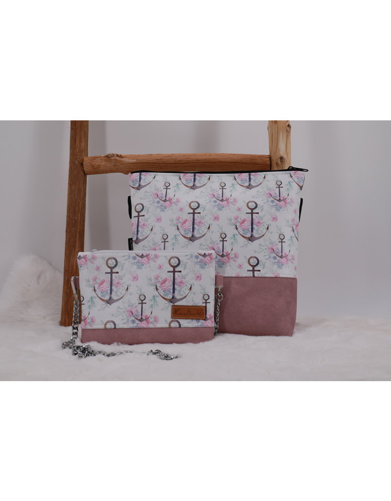 Milow Set - Ankerblumen  inkl. Clutch