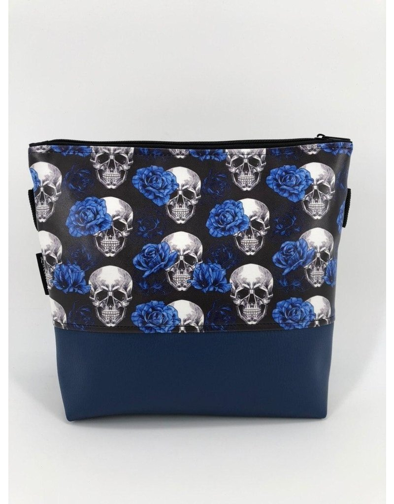 Milow Set - Totenkopf  royalblau inkl. Clutch