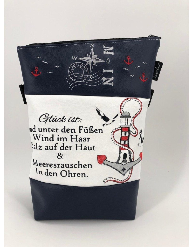 Foldover Set - Leuchtturm mit Spruch und Moinwindrose inkl. Clutch