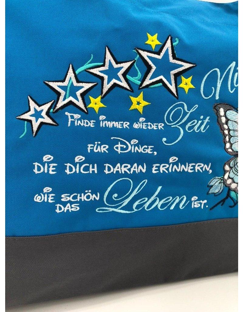 "Shopper Shopper ""Totenkopf mit Spruch"""
