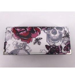Milow Geldbörse Totenkopf mit Rose