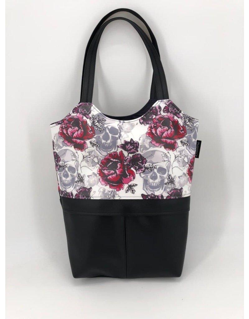 City-Shopper Oslo Totenkopf mit Rose