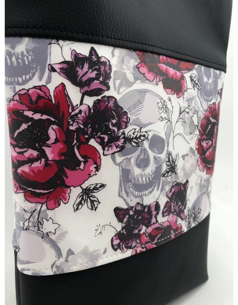 Foldover Totenkopf mit Rose (Druck)
