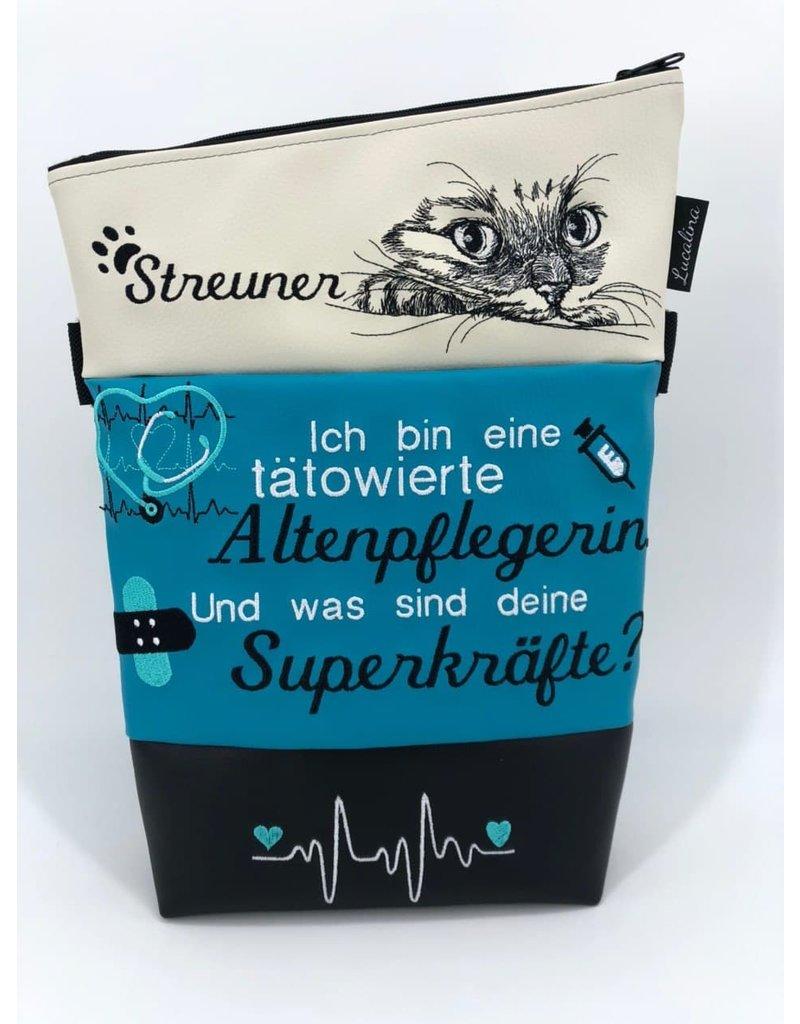 Foldover Tattooed geriatric nurse