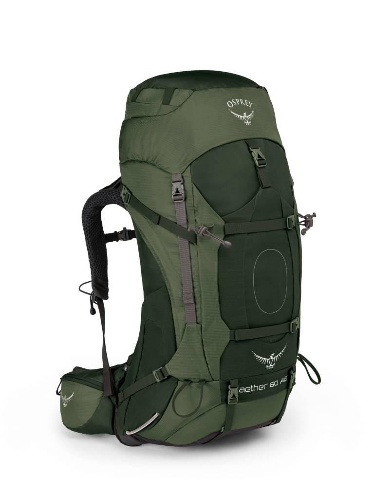 2acdafe5944 Osprey Aether AG 60l backpack heren - Adirondack Green