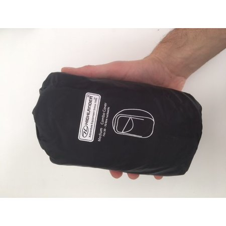 Highlander Combo cover 50-70l flightbag en regenhoes - zwart