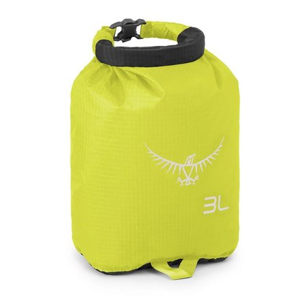 Osprey Ultralight DrySack 3 liter drybag  Electric Lime -waterdichte zak