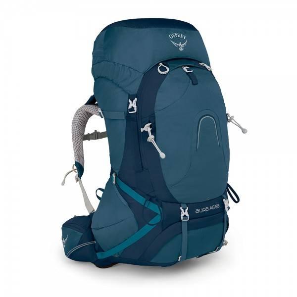 5861ec0c470 Osprey Aura AG backpack 65 liter Challenger Blue - Kopen ...