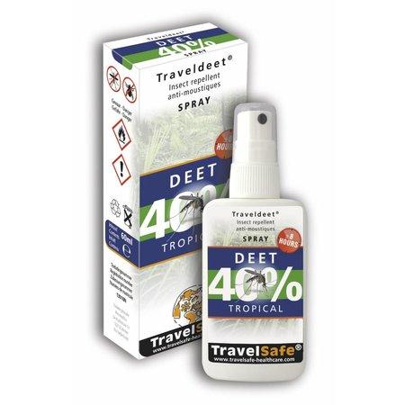 Travelsafe TravelDEET - 40% Spray - 60ml - tropical muggenspray