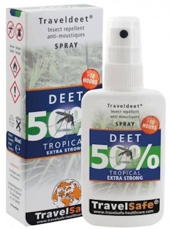 Travelsafe TravelDEET - 50% deet Spray - 60ml - exta strong tropical