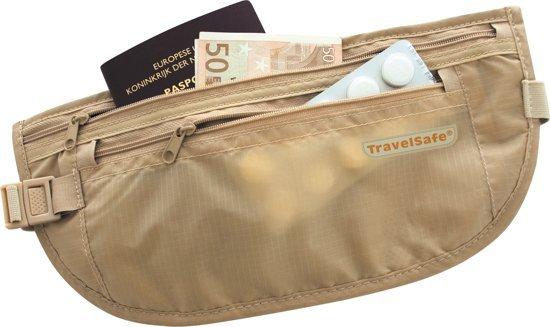 Travelsafe moneybelt lightweight - reisportemonnee - beige�- twee ritsen