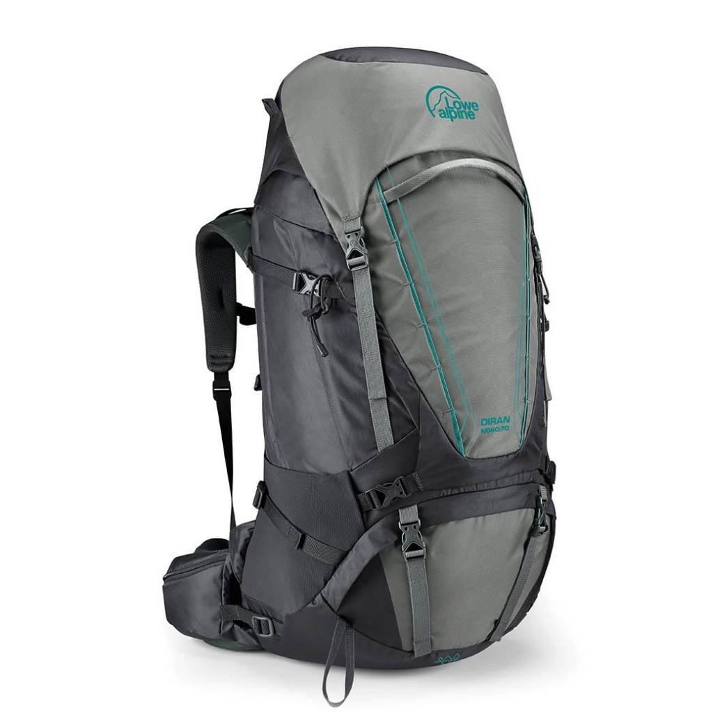 Lowe Alpine Diran ND 60:70l backpack dames - Greystone Iron Grey