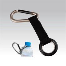 Karabijnhaak met flessen ring - PET flessen drager