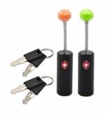Munkees TSA slot - kabelslot ritsen - 2 sleutels