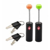 TSA slot - ritsen kabelslot - 2 sleutels