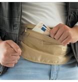 Travelsafe moneybelt lightweight – reisportemonnee - zwart– twee ritsen