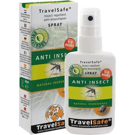 Travelsafe Anti insect spray 60ml - natuurlijke ingrediënten- DEET alternatief