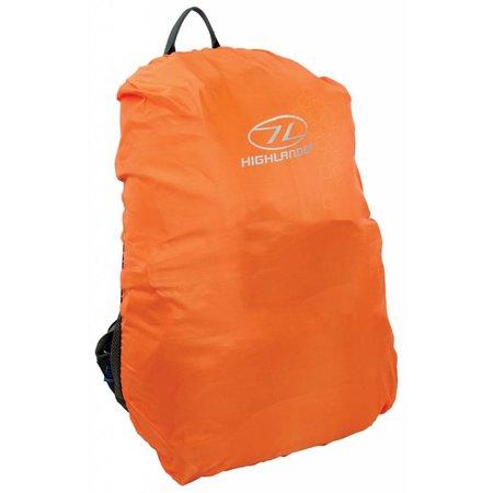 Highlander Backpack regenhoes 40 - 50 liter oranje