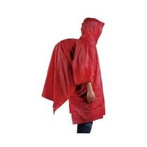 regenponcho herbruikbaar - rood