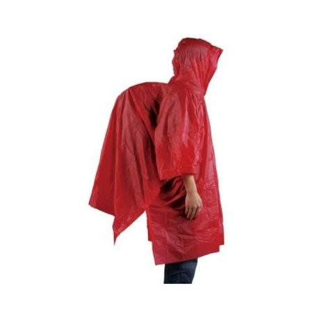 Ace Camp regenponcho herbruikbaar - rood