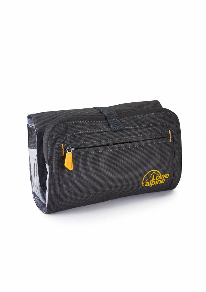 Lowe Alpine Roll up wash Bag -reistoilettas - ophanghaak en spiegel - zwart