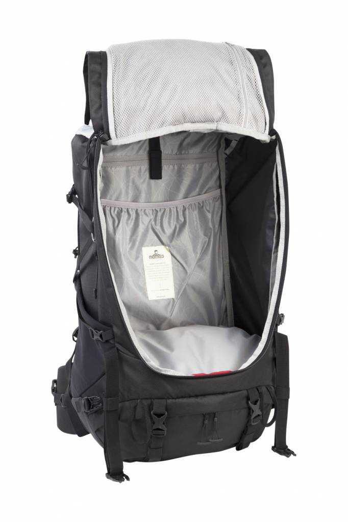 5229881ab8a Nomad Topaz 60l backpack heren - Phantom zwart   Backpackspullen.nl