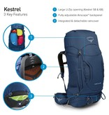 Osprey Kestrel 58l backpack heren - Picholine Green