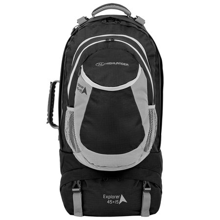 Highlander Explorer 45+15l  travelpack - zwart