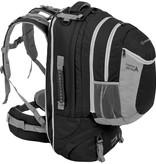 Highlander Xplorer 60+20l travelpack - zwart