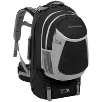 Explorer - 60+20l travelpack backpack - zwart