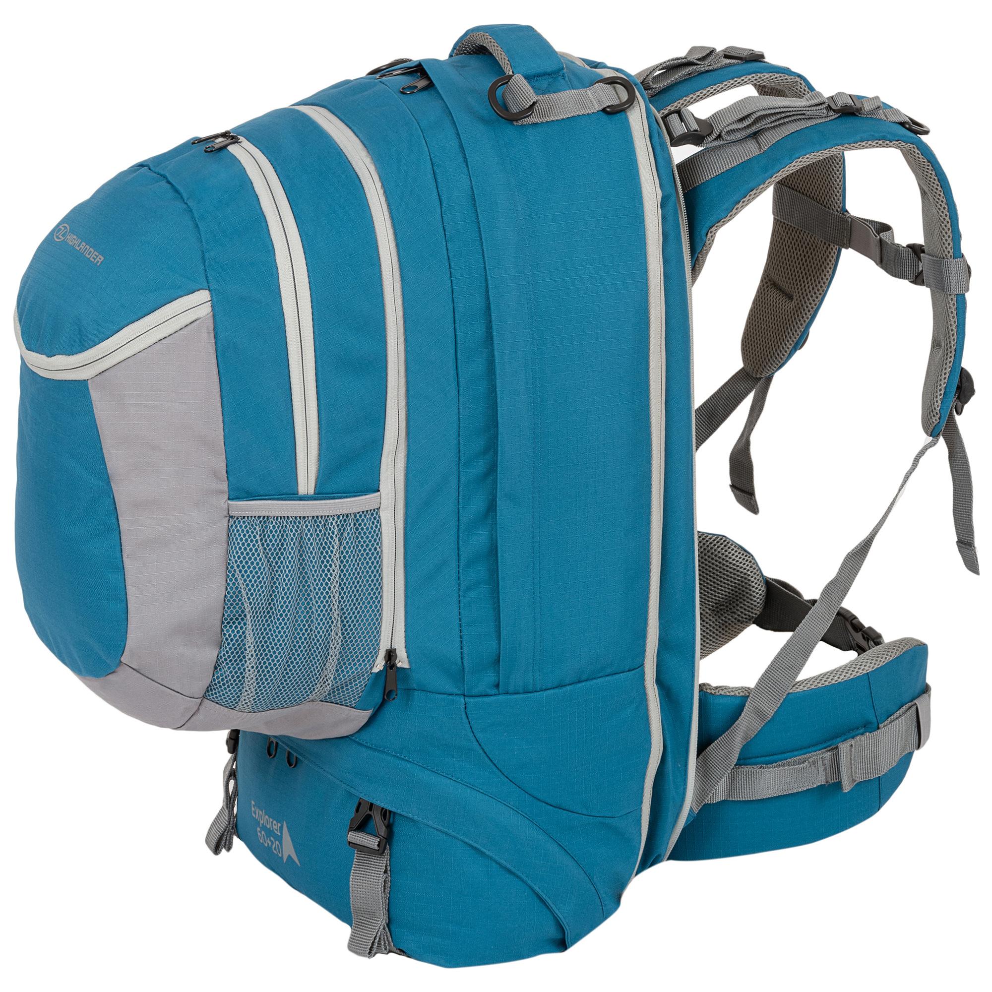 7074d517efb Highlander Explorer 60+20l travelpack backpack- blauw ...