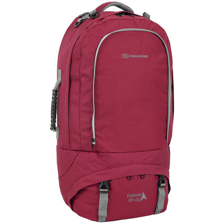 Highlander Explorer 80+20l travelpack backpack - rood