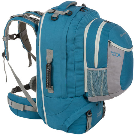 Highlander Explorer 80+20l travelpack backpack - blauw