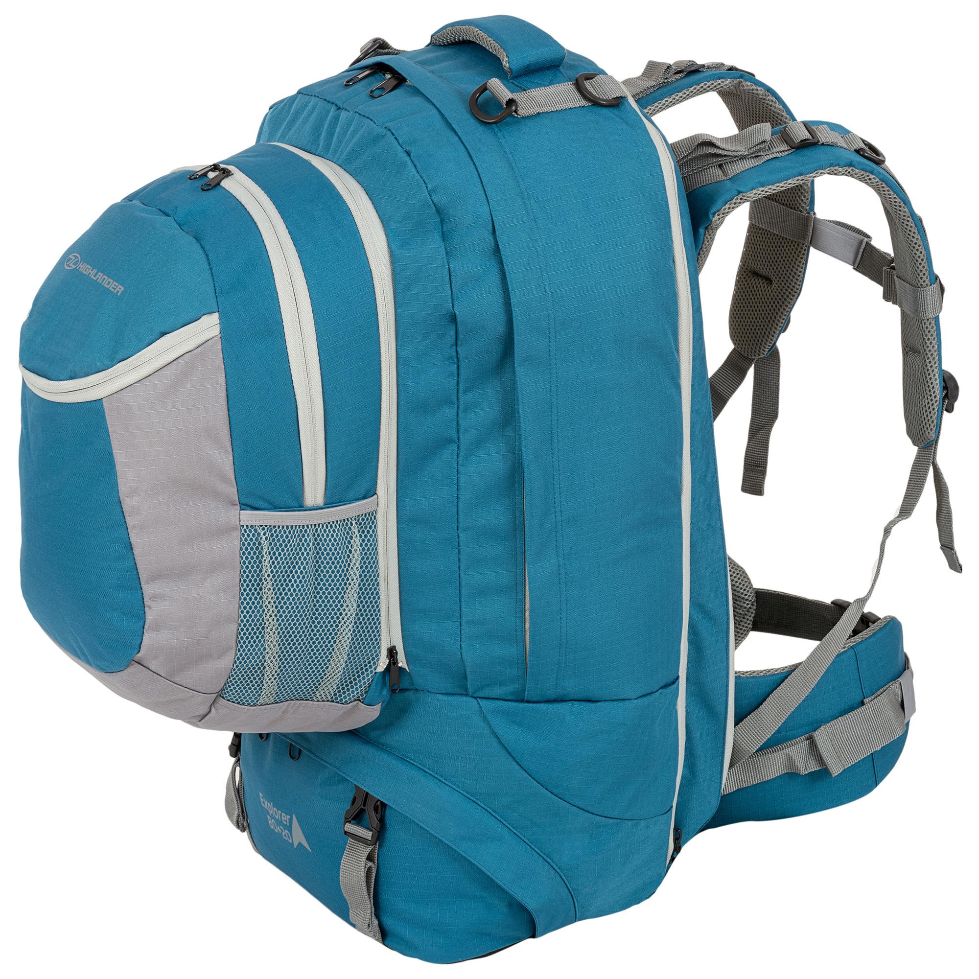 e98642b5c4a Highlander - Explorer - travelbag - 80 + 20l - blauw - Kopen ...