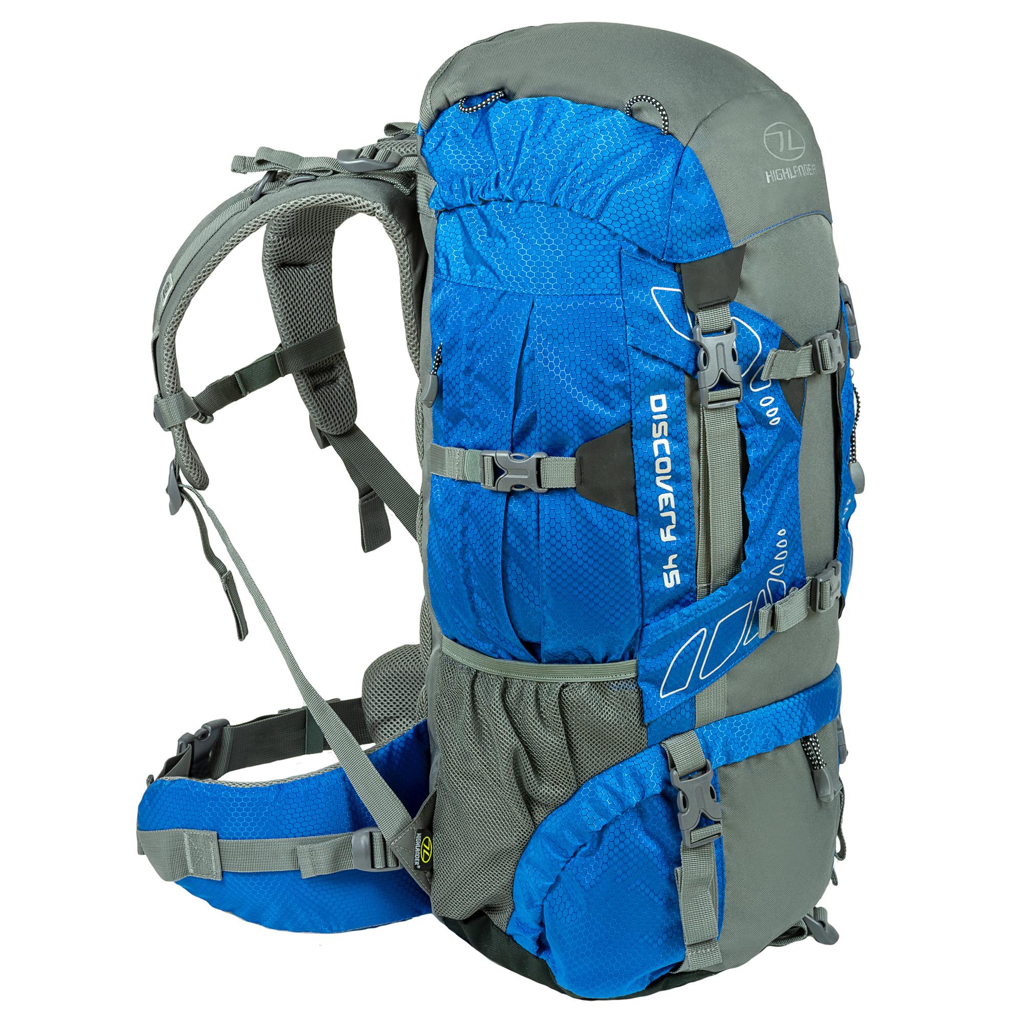 4f9b5d5971c Highlander Discovery 45l backpack - blauw - Kopen? | Backpackspullen.nl