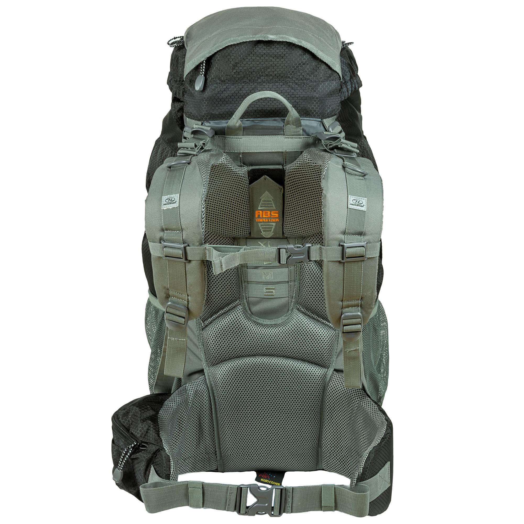00f502da289 Highlander Discovery 65l backpack - zwart | Backpackspullen.nl