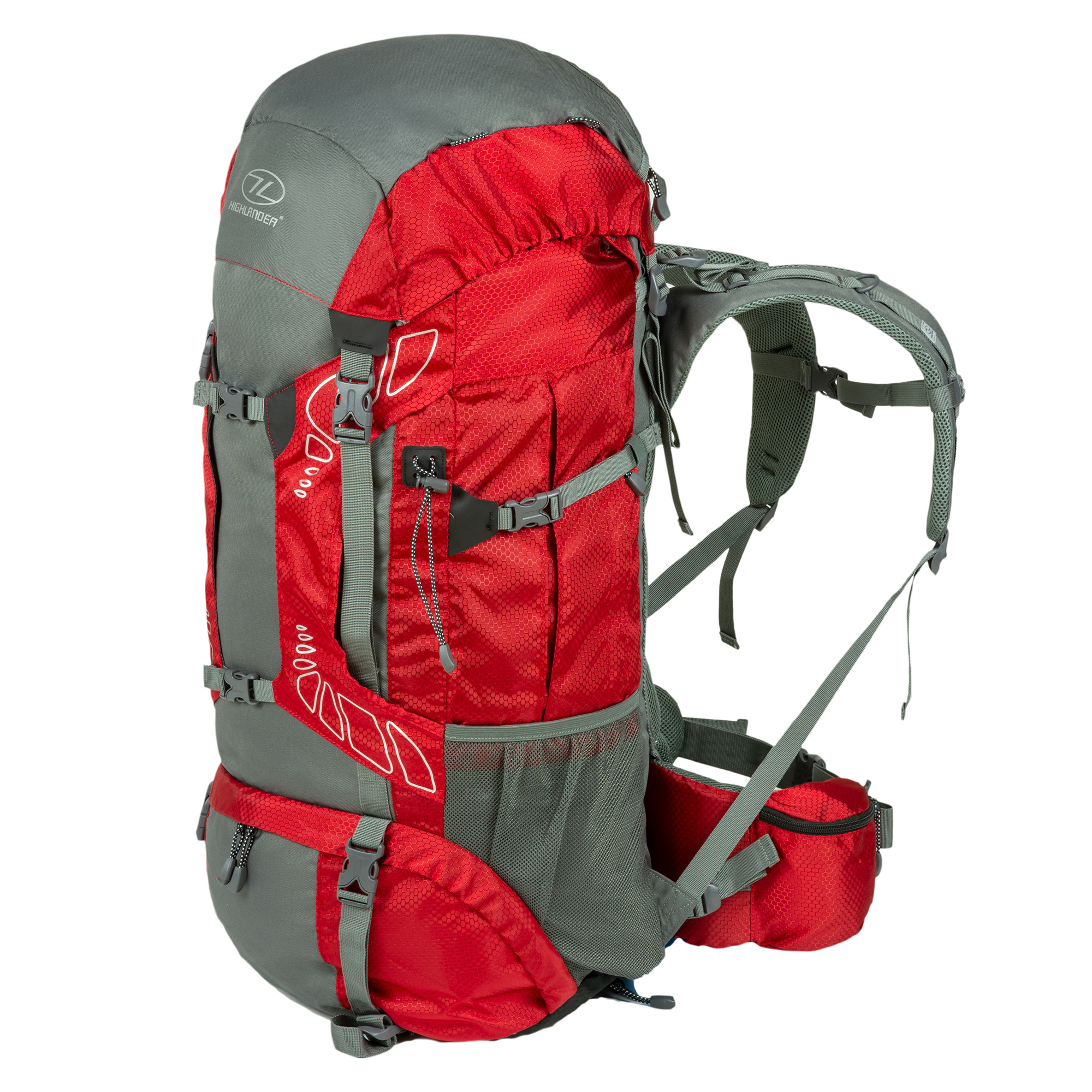 7a77281b2f5 Highlander Discovery 85l backpack - rood | Backpackspullen.nl