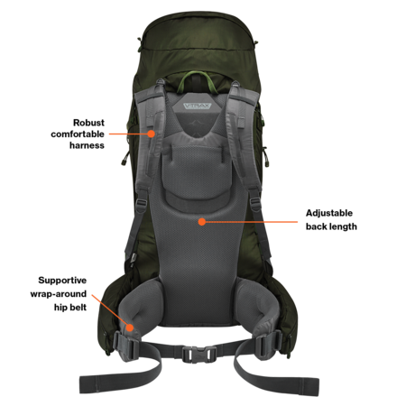 Lowe Alpine Diran ND  50:60l  backpack dames - Greystone  Iron Grey