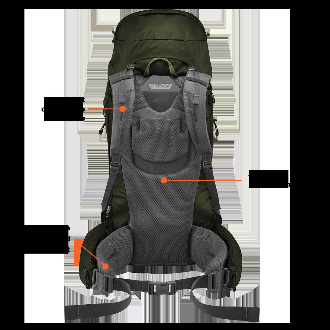2c8bb1d7499 Lowe Alpine Diran ND - 50:60l - backpack dames - Anthracite ...
