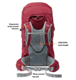 Lowe Alpine Manaslu 65:80l backpack heren - zwart