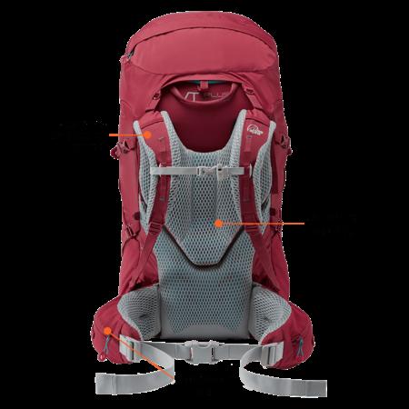 Lowe Alpine Manaslu 55:70l backpack  - zwart