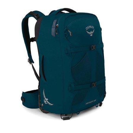 Osprey Farpoint Wheels 36L handbagage trolley convertible rugzak heren – Petrol Blue - O/S