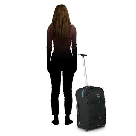 Osprey Fairview Wheels 36l travelpack convertible dames - handbagage - Black O/S
