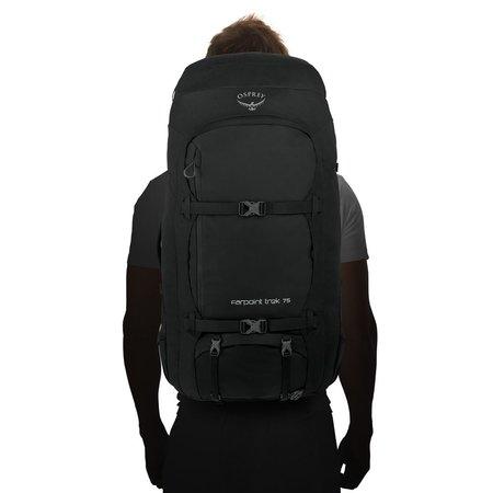 Osprey Farpoint Trek 75l travelpack heren - zwart O/S
