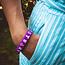 Ik ga op avontuur Travel bracelet Small - reisbandje icons - paars