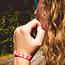 Ik ga op avontuur Travel bracelet Small - reisbandje icons - roze