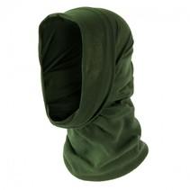 Thermal fleece nekwarmer balaclava sjaal - olive groen
