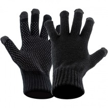 Touch screen handschoenen met grip - zwart