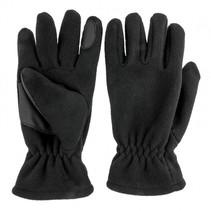 Polar fleece handschoen met grip in palm - zwart