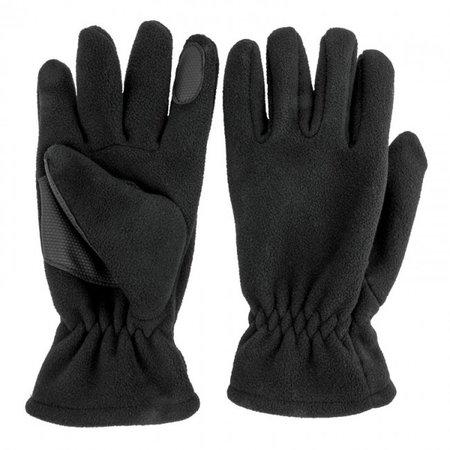 Highlander Polar fleece handschoen met grip in palm - zwart